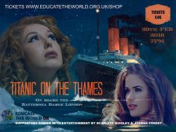 "Joanna and Scarlett Quigley to perform at ""Titanic on The Thames"" fundraiser for Educate the World"