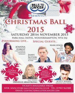 "Joanna says ""Balls to Cancer"" at Christmas Ball"