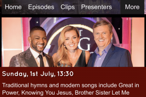 Joanna to appear on BBC's Songs of Praise